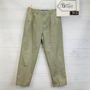 Polo Ralph Lauren Andrew Chino Pants Pleated Green